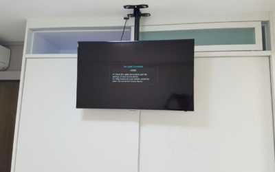 No place to mount your TV? This maybe an idea for you.