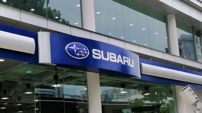 Project @ Subaru showroom