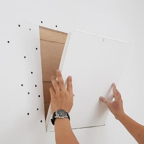 Gypsum partition board wood reinforcement